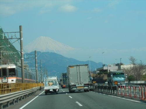 正面に望む富士山(2)