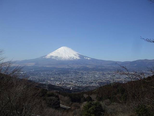 乙女峠から見た富士山